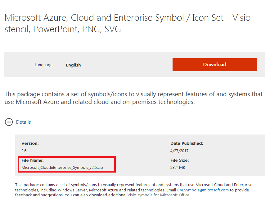 Microsoft Azure, Cloud and Enterprise Symbol / Icon Set v2 6 が