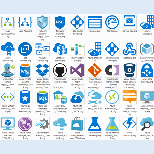 Microsoft Azure, Cloud And Enterprise Symbol / Icon Set V2